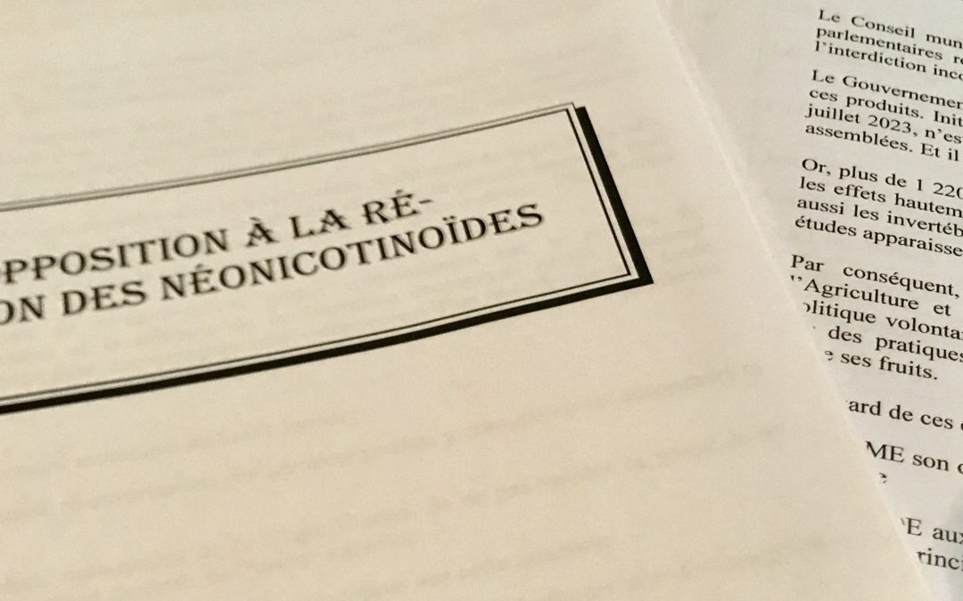 Saint-Junien dit non aux néonicotinoïdes !