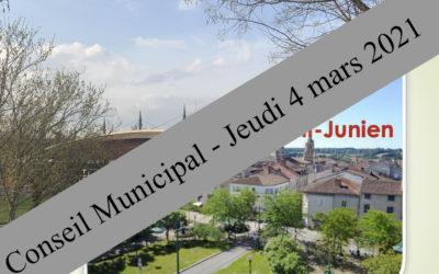 Réunion du Conseil Municipal du 4 mars 2021
